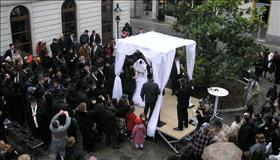 Orthodox Jewish wedding, courtesy of Wikipedia