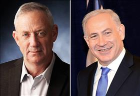 Benny Gantz (left) and Bibi Netanyahu (right), source: Wikipedia