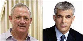 Benny Gantz (left), Yair Lapid (right), source: Wikipedia