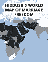 Hiddush's World Map of Marriage Freedom